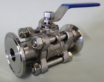 "Picture of Tri-Clover Ball Valve - 3pc 1.5"" x 1/2"" bore"