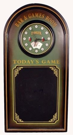 Picture of Clock - 3D Game Room Blk/Board