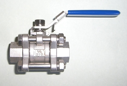 "Picture of Ball Valve 1/2"" (304 Stainless 3 piece)"