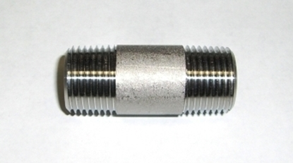 "Picture of S/S Nipple 1/2"" x 2"" Threaded"