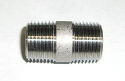 "Picture of S/S Nipple  1/2"" x 1.5"" Thread"