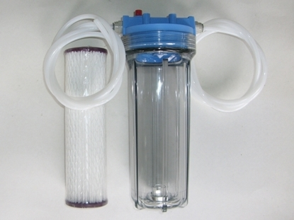 Picture of Beer  Filter Kit Mk II (With 1x 1 Micron Cartridge,3 Mtr JG Line 6x8mm & 2 x JG 1/4 x 5/16 BSPT Adaptors)