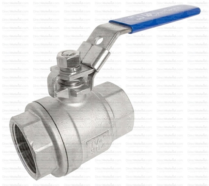 "Picture of Ball Valve SS 1/2"" 2pc FP"