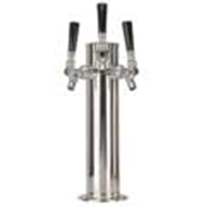 "Picture of Font 3"" Stainless - 3 Tap"