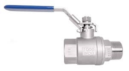 """Picture of Ball Valve SS 1/2"""" Male to Female Thread"""