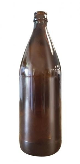 Picture of (55554) Crown Seal Glass Bottle Amber 750ml Ctn of 12.