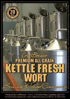 Picture of 100% Peated Whisky Mash (100% PEATED) - Fresh Wort Kit (20L)