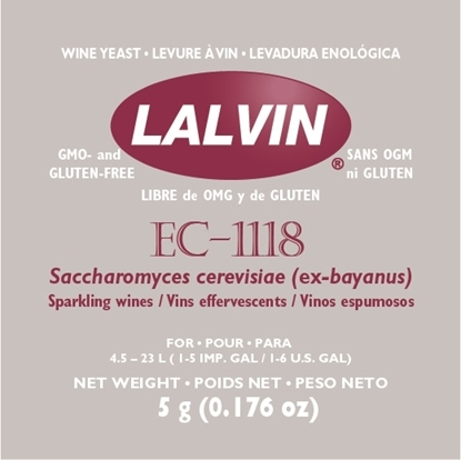 Picture of Lalvin EC1118 Yeast 5g (Champagne Yeast)